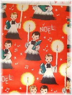 Vintage Carolers Christmas Wrapping Paper | Flickr - Photo Sharing!
