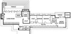 frank lloyd wright home and studio floor plan - Falling Water Frank Lloyd Wright, Frank Lloyd Wright Homes, Studio Floor Plans, Small House Floor Plans, Autocad, Floor Plan Sketch, The Wright House, Usonian House, Prairie House
