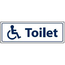 Disabled Toilets sign image