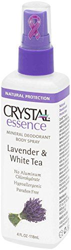 CRYSTAL essence Mineral Deodorant Body Spray  Lavender and White Tea 4 fl oz  12 Pack * You can get more details by clicking on the image.