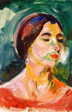 Birgit Prestøe, Estudio de retrato  Edvard Munch - 1925-1926
