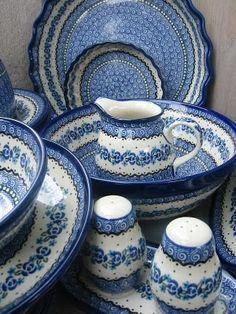 Polish Pottery love this decor.