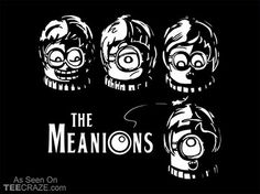 The Meanions T-Shirt - http://teecraze.com/the-meanions-t-shirt/ -  Designed by Gil