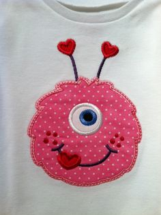 One eyed monster applique t shirt by debsmartin58 on Etsy, $20.00