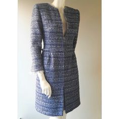 We have created a new design Spring/Summer coat, using my lovely French tweed, which was specially woven last year. It has a gathered 'skirt' effect, and chunky silver zip openings on the sleeves and front, which I love. For a touch of femininity, the neck and sleeve hems have a delicate ruching of silver chiffon.