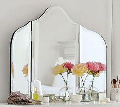 Espejo vintage para mi vanity. 400$ Maisie Vanity Mirror #potterybarn