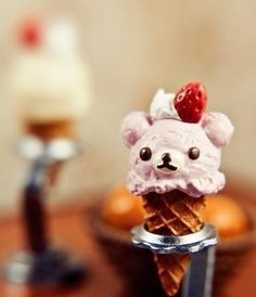 Cute bear-shaped ice cream