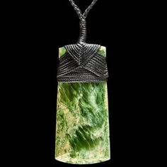 Large Maori Flower Jade (Pounamu) Toki Necklace by Bill Goodwin Maori Legends, Transfer Images To Wood, Dremel Carving, Maori Designs, Nz Art, Maori Art, Kiwiana, Oriental Design, Bone Carving