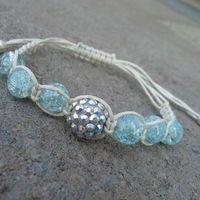 Macrame beaded shambala style bracelet