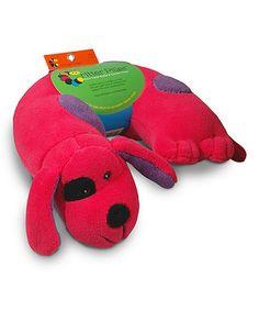 Pink Dog Neck Pillow