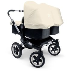 Bugaboo Donkey Twin v1.1 Stroller Aluminium/Black/Off-white ❤ liked on Polyvore featuring baby and kids