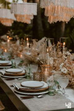 autumn event ideas for your celebration at blanc! food, decorations, flowers, and attire that create the warm ambiance of fall! Wedding Set Up, Wedding Dinner, Boho Wedding, Dream Wedding, Wedding Table Settings, Wedding Reception Decorations, Table Decorations, Wedding Designs, Wedding Styles