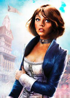 BioShock Infinite 'Lamb of Columbia' Elizabeth Bioshock Infinite Elizabeth, Bioshock Game, Bioshock Series, Video Game Art, Video Games, Elizabeth Cosplay, Nerdy Tattoos, City Background, Video Game Characters