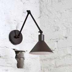 Adjustable wall light bronze, reading light,