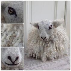 DIY - felted sheeps wool / tovat får Sheep Crafts, Felt Crafts, Needle Felted Animals, Felt Animals, Wet Felting, Needle Felting, Spinning Yarn, Cat Doll, Textiles