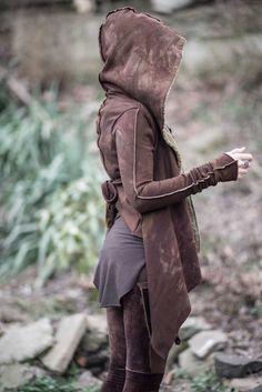 OOAK cropped Bast hoodie