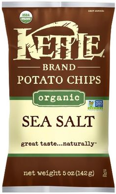Kettle Organic Potato Chips, Sea Salt, 5-Ounce Bags (Pack of 15) - http://goodvibeorganics.com/kettle-organic-potato-chips-sea-salt-5-ounce-bags-pack-of-15/