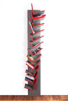 libreria Spiga / Gianluca Sgalippa per Enzyma Storage Shelves, Shelving, Book Shelves, Unique Bookshelves, Bookcases, Storing Books, Shelf Design, Magazine Design, Just Do It