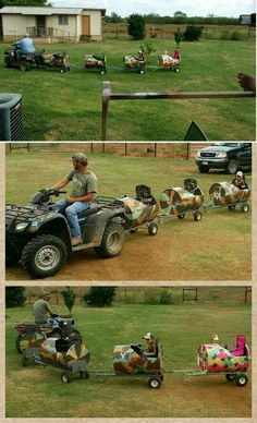 Barrel Train for grandkids