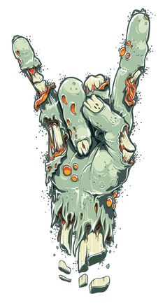 Zombie/Frankenstein's monster hand Arte Zombie, Zombie Art, Zombie Drawings, Art Drawings, Zombie Illustration, Illustration Art, Arte Horror, Horror Art, Zombie Wallpaper