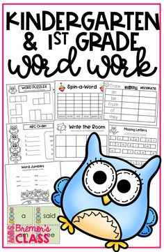 Kindergarten and Grade Word Work activities for 50 sight words! Pack includes word puzzles spin-a-word abc order write the room missing letters trace-stamp-decorate and more! 1st Grade Activities, Spelling Activities, Sight Word Activities, Toddler Activities, 1st Grade Spelling, First Grade Sight Words, Teaching Sight Words, Sight Word Practice, Sight Word Flashcards