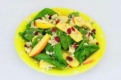Vegetarischer Sommersalat - mit Apfel, Cranberry und Blauschimmelkäse Meat, Chicken, Food, Summer Time, Apple, Essen, Meals, Yemek, Eten
