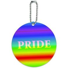 Rainbow Spectrum Pride Gay Lesbian Round Luggage ID Tag Card for Suitcase or Carry-On, Multicolor