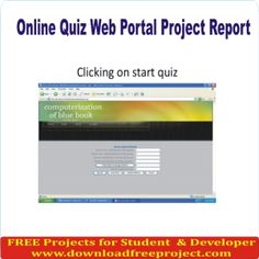 Free Online Quiz Project In PHP Projects Download