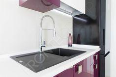 Bucătărie Grape – Mobilier La Comandă – Fabrică București Sink, Kitchen, Design, Home Decor, Sink Tops, Vessel Sink, Cooking, Decoration Home, Room Decor