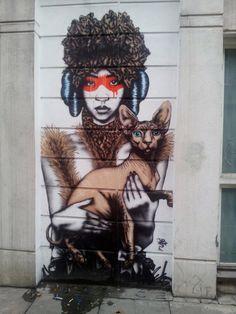 Brick Lane Diva, London  Via Urban Art Fair