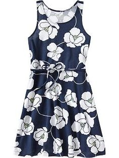Girls Belted Tank Dresses