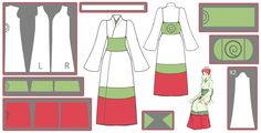 Mito Uzumaki Kimono Cosplay Design Draft by Hollitaima.deviantart.com on @deviantART