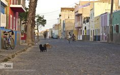 Street life Cape Verde; by yonka3 travel with us at www.pifizone.com