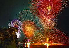 Hanabi- Fireworks in Japan. On Wednesday I learned about summer culture in Japan, and large fireworks shows are fairly common.