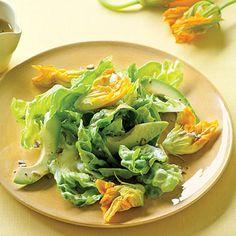 Squash Blossom, Avocado, and Butter Lettuce Salad Recipe