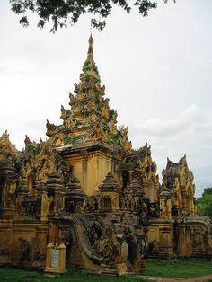 Around Mandalay, Inwa, Maha Aungmye Bonzan, diagonal view by bijapuri ( Ed Sentner ), via Flickr