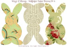 Wallpaper Easter Bunnies – Day 2 of 5 | Wings of Whimsy
