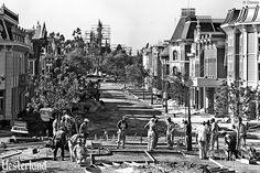 Disneyland construction in 1955