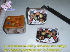 "Maria Teresa of Fimo Manualidades de MT - ""plugged"" mokume gane'. #Polymer #Clay #Tutorial"