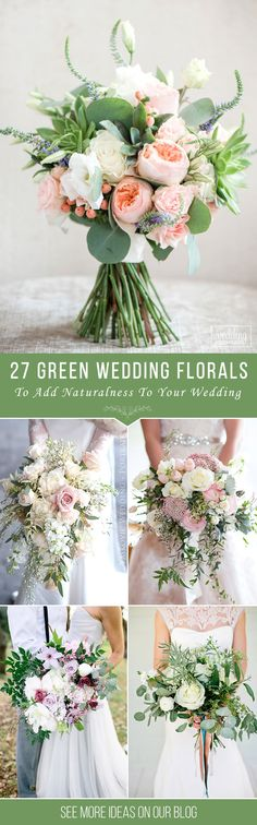 27 Green Wedding Florals To Add Naturalness To Your Wedding ❤ Greenery decorations are biggest wedding trend for the year 2017. Choosing green wedding florals you add more sophistication and nature to your big day. See more http://www.weddingforward.com/green-wedding-florals/#wedding #bouquets
