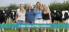 young female dairy farmers