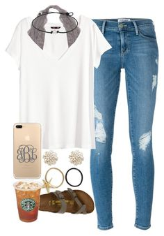 """""""Untitled #98"""" by whitpit7 on Polyvore featuring Frame, H&M, Sole Society, Pluie and Birkenstock"""