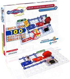 (US) Snap Circuits Jr. Electronics Exploration Kit, Kids Building Projects Kits, Stem Engineering Toys for Kids Quiet Time Activities, Art Therapy Activities, Circuit Components, Engineering Toys, Electrical Engineering, Snap Circuits, Discovery Kit, Stem Projects, Circuit Projects