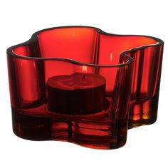 iittala Aalto Votive Candle Holder - Red  $65.00