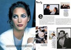1994年からの資生堂クレ・ド・ポー(Cle de Peau)ミューズ、クリスティ・ターリントン(Christy Turlington)の時代を超越した極上美。