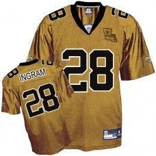 42e195af06d Reebok New Orleans Saints Mark Ingram 28 Gold Authentic Jerseys Sale