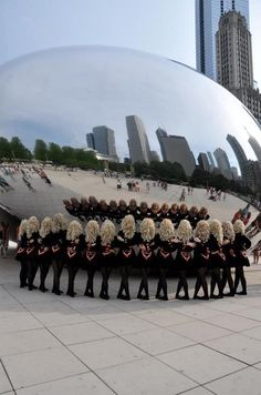 """acryfromtheheavens:  O16 Choreography Nationals 2012. irish dancers at Chicago's """"Bean"""""""