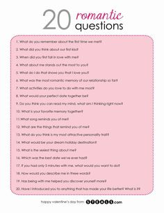 20 Romantic Questions to help while building your friendship into a relationship Questions To Ask Your Boyfriend, Fun Questions To Ask, This Or That Questions, Things To Ask Your Boyfriend, Date Night Questions, Couple Quiz Questions, Questions To Get To Know Someone, Interesting Questions To Ask, 21 Questions Game