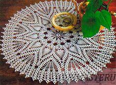 http://ideimaste.ru/Round_crochet_doily_with_elements_of_Pineapple_1
