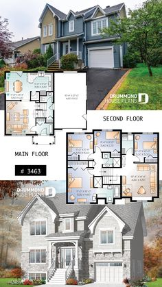 Luxurious European 4 bedroom with 2 living rooms and a garage Sims 4 House Plans, Sims 4 House Building, House Layout Plans, Craftsman House Plans, New House Plans, Dream House Plans, Modern House Plans, House Layouts, House Floor Plans